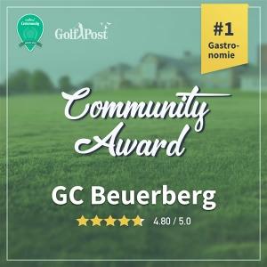 Communitty Award GC Beuerberg 5 Sterne