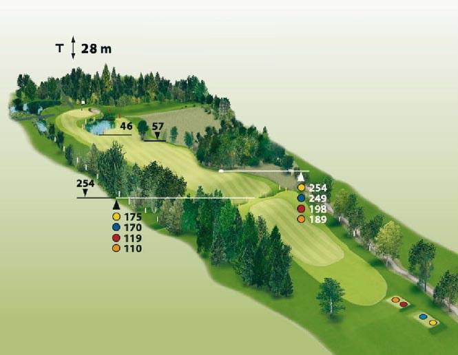 Spielbahn Golfclub Beuerberg Loch 12