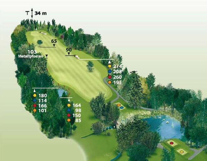 Spielbahn Golfclub Beuerberg Loch 13