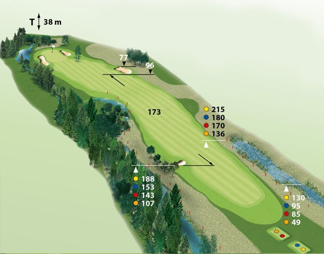 Spielbahn Golfclub Beuerberg Loch 15