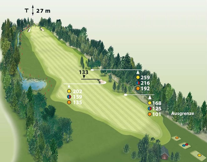 Spielbahn Golfclub Beuerberg Loch 16