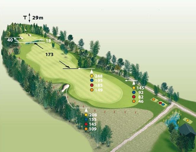 Spielbahn Golfclub Beuerberg Loch 17