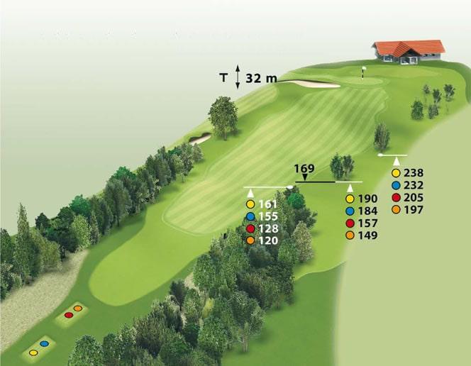 Spielbahn Golfclub Beuerberg Loch 18