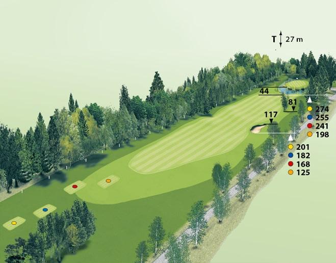 Spielbahn Golfclub Beuerberg Loch 3