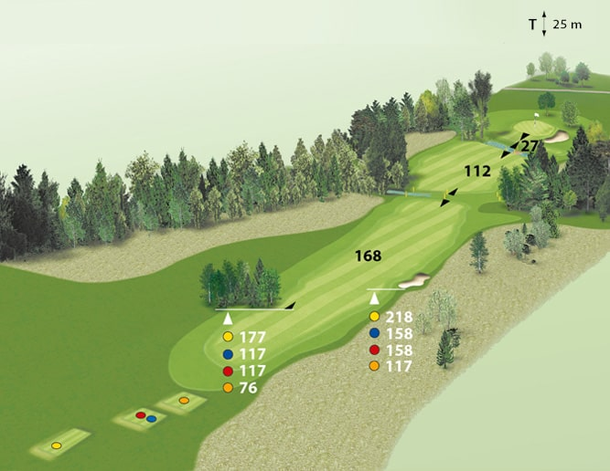 Spielbahn Golfclub Beuerberg Loch 4