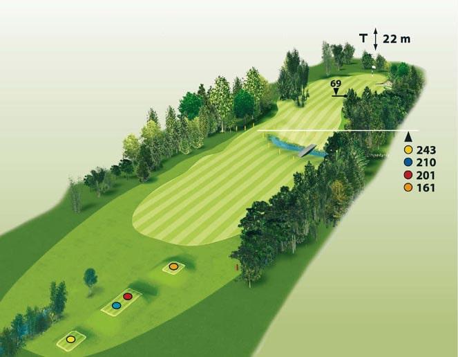 Spielbahn Golfclub Beuerberg Loch 6