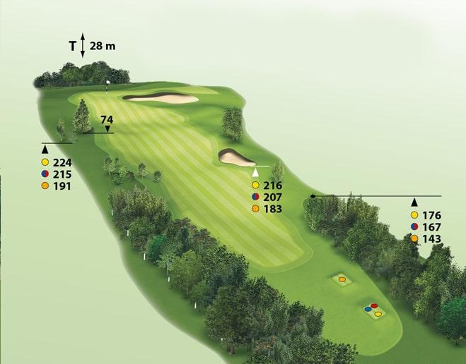 Spielbahn Golfclub Beuerberg Loch 9